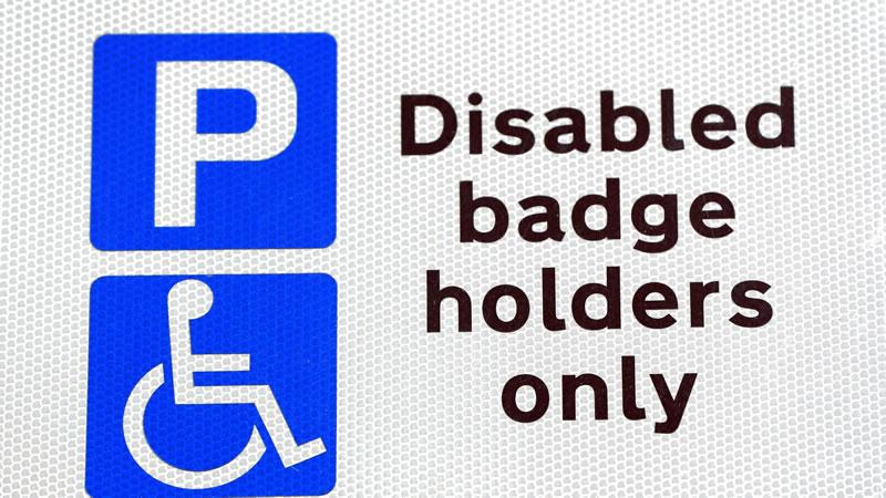 Blue Badge Holder Only Sign